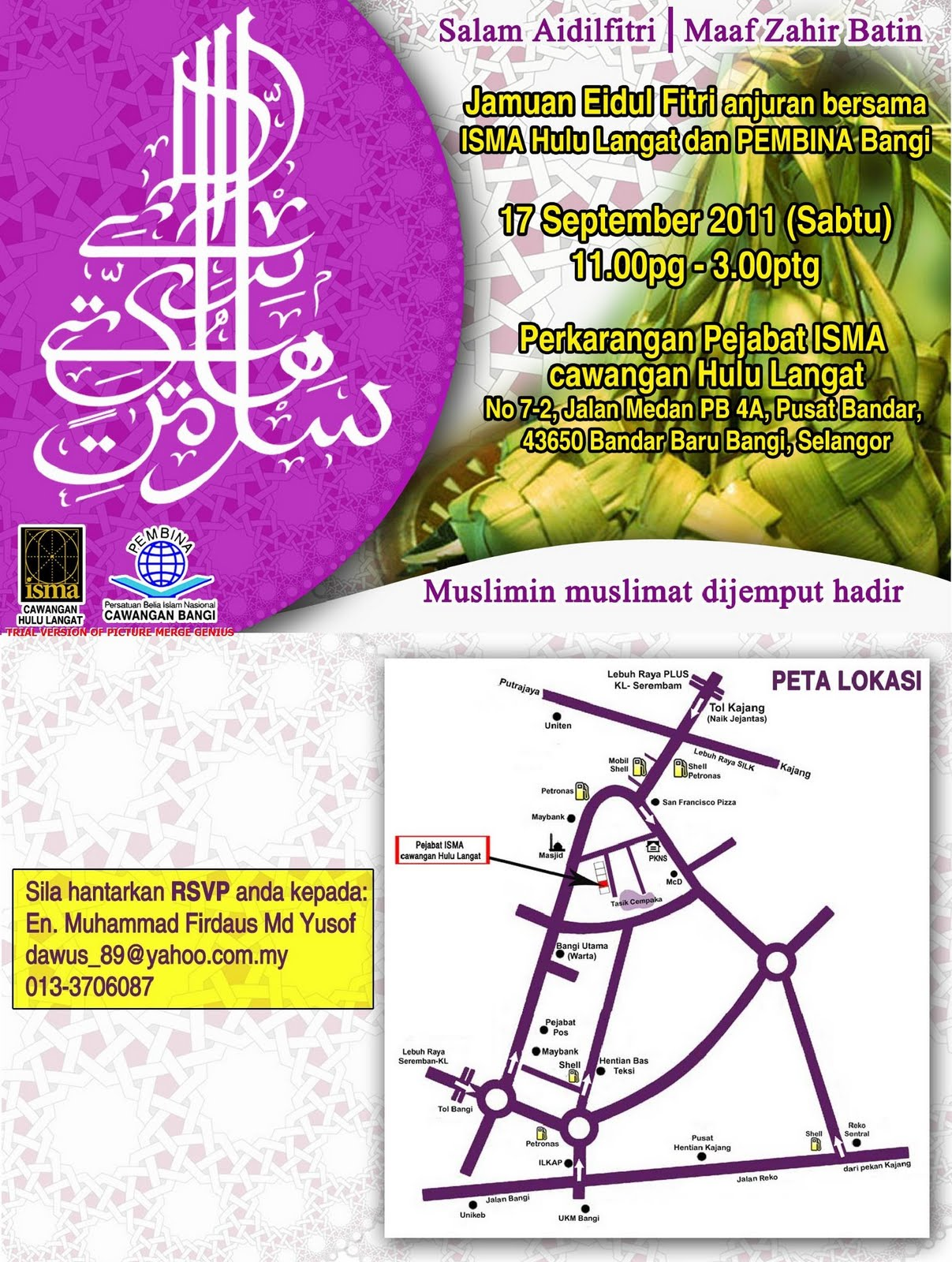 bangi muslim We started small in the early 2009 at nilai and now bandar baru bangi section 9 we are now growing our outlets to putrajaya to supports our loyal customers there.